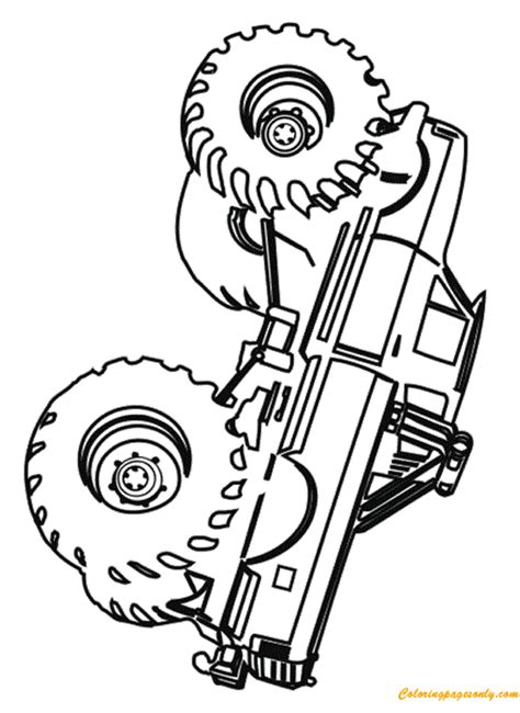 grave digger truck coloring pages simple grave digger truck coloring page free