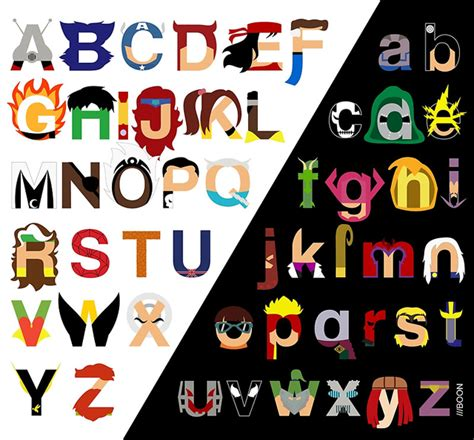 Flip The Table Emoticon Marvelphabet A Typographic Marvel Comics Alphabet By Mike