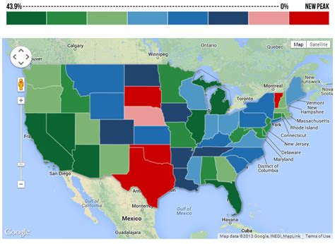 us map clickable states html heat map home prices reaches the highest in five us