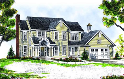 Two Story Farmhouse by Attractive Two Story Farmhouse 89114ah Architectural