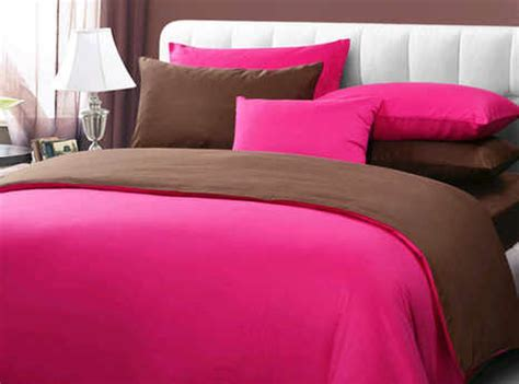 Harga Sprei Bedcover Merk by Detail Product Seprei Dan Bedcover Polos Pink Mix Coklat