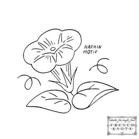 Free Morning Glory Embroidery Transfer Patterns