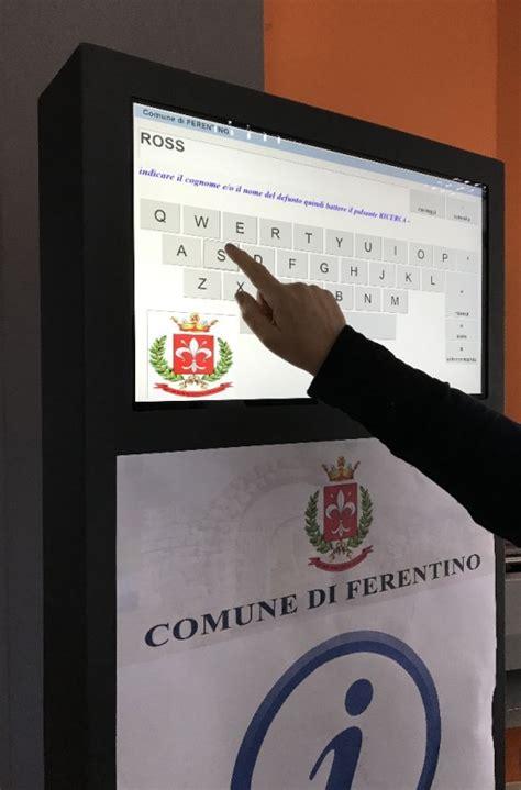 dati cimiteriale totem multimediale infopoint nuovo sistema informativo