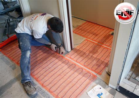 Sun Touch Heated Floor by Radiant Floor Heating Mat Kits 10 Sq Flooring Heating