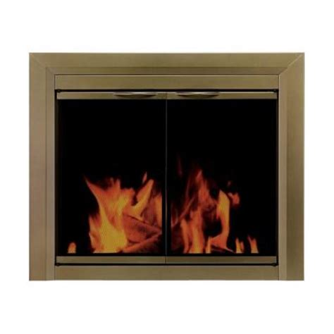 Pleasant Hearth Glass Fireplace Doors Pleasant Hearth Large Glass Fireplace Doors Ct 3222 The Home Depot