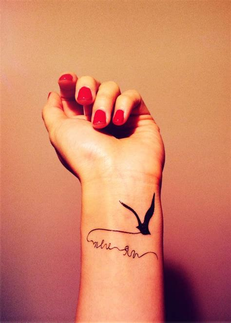 2pcs flying bird seagull tattoo inknart temporary by