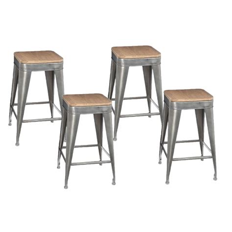 Lot De 4 Tabourets De Bar by Lot De 4 Tabourets De Bar Quot Joris Quot 60cm Gris