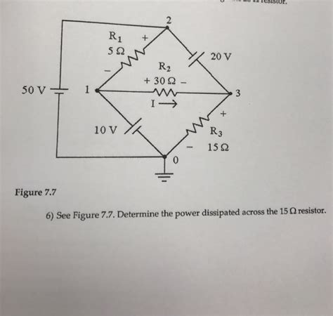 determine the power dissipated by the 10 ohm resistor see figure 7 7 determine the power dissipated acr chegg