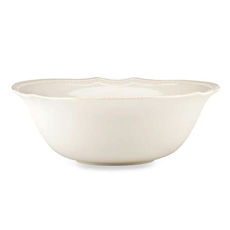 lenox perle bead white lenox 174 perle bead serving bowl in white bed bath
