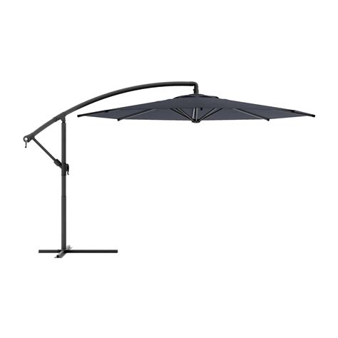 Patio Umbrella Offset Corliving Ppu 4 Offset Patio Umbrella Lowe S Canada