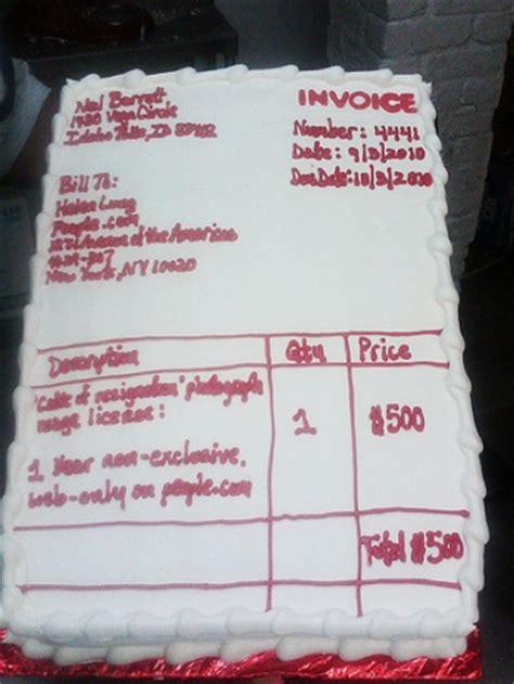 Resignation Letter Cake Resignation Cake Sender Has Invoice Cake Delivered To Boing Boing