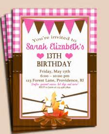 smore cfire invitation printable or printed by thatpartychick