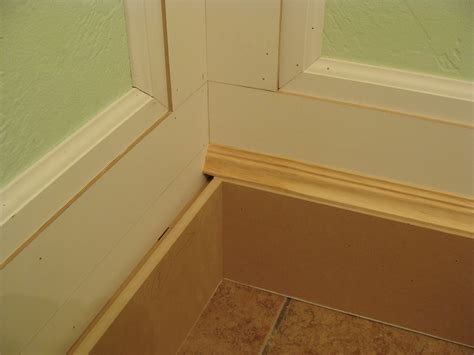 baseboard for bathroom 5 bathroom moldings how to install the joy of moldings com