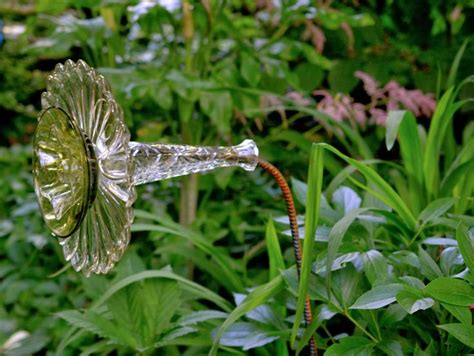 glass flowers for garden garden made from re purposed rebar and flea market