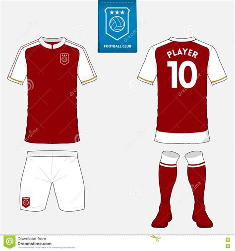 football jersey design vector set of soccer jersey or football kit template for your