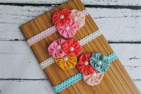 Bandana Bayi Baby Headband Bintang Kecil soft stretchy headband with sheer fabric flowers newborn