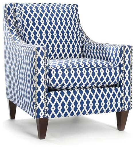 Geometric Patterned Armchair Uk | pryce ultramarine geometric pattern arm chair