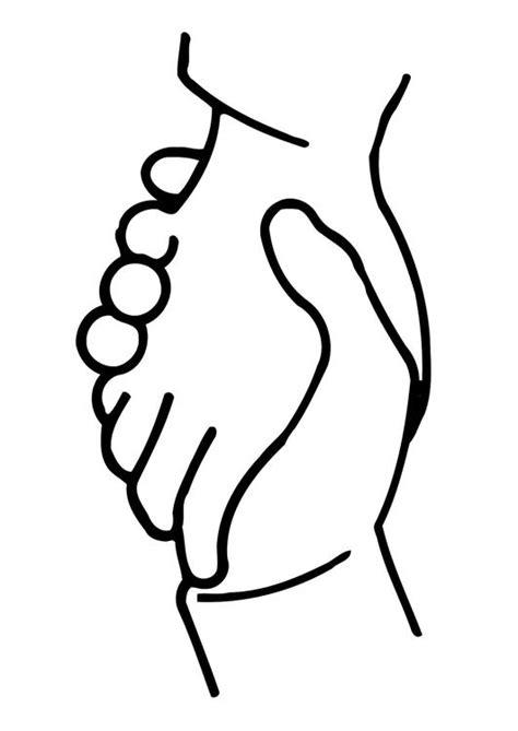Coloriage se serrer les mains - img 11321