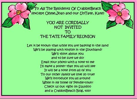 family invitations family reunion invitations ideas