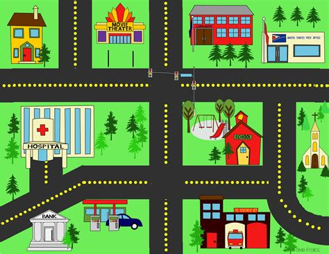 printable play road map city streets playmat city streets street and free time