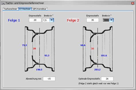felgen et und einpresstiefen rechner et rechner tacho und et rechner audi a6 4b 202898867