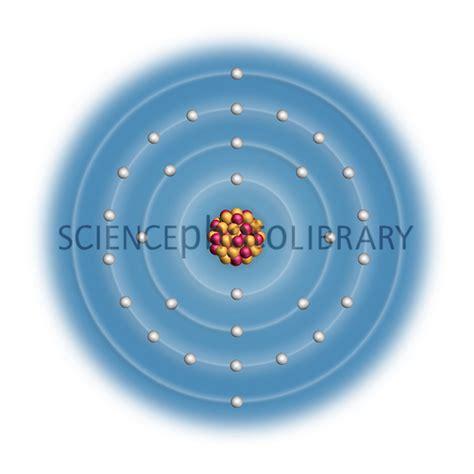 zinc protons zinc atomic structure stock image c023 2520 science