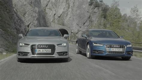 difference between audi a7 and s7 audi a7 and audi s7 2015 official trailer