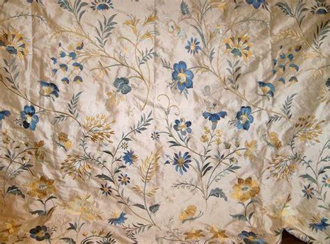 embroidered fabrics jofa guinevere embroidered silk fabric blue
