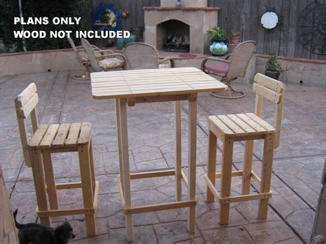 Diy Outdoor Bar Table Diy Plans To Make Bar Table And Stool Set Outdoor