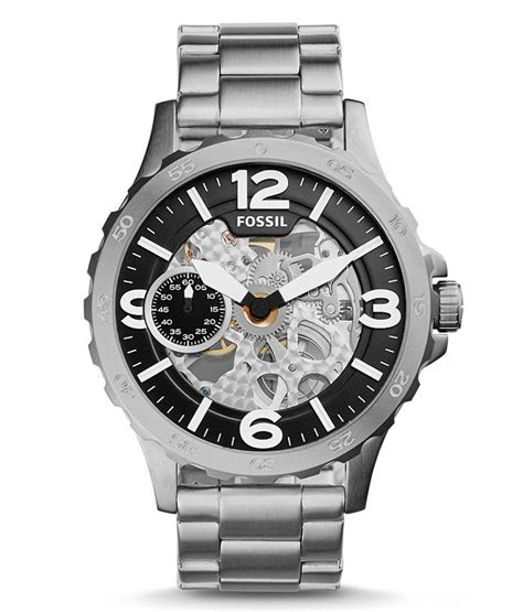 Fossil Me3129 Nate Wound Mechanical Silver Silver Stainless 24 best fossil watches images on fossil watches fossils and skeletons