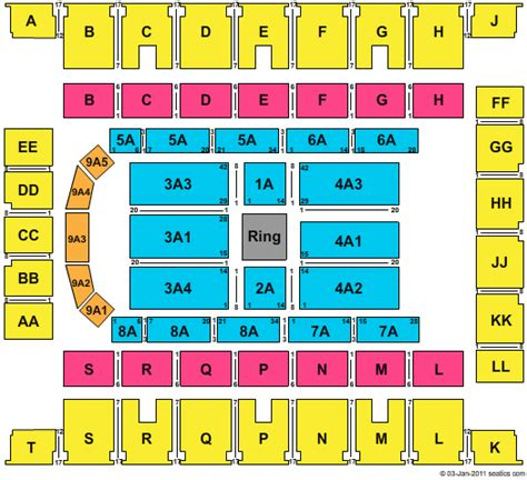 knoxville civic coliseum seating knoxville civic coliseum seating chart foto