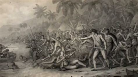 Cook S Illustrated by The Death Of Captain Cook National Portrait Gallery