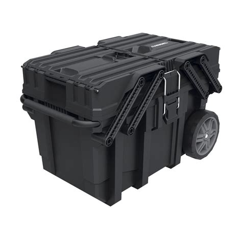 mobile tool box portable storage   cantilever lid