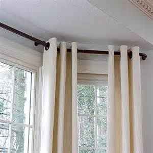bay window curtain rod 5 8 quot contemporary windows by