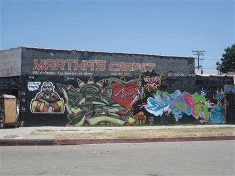 Murals Wall graffiti mural martha s carpet los angeles