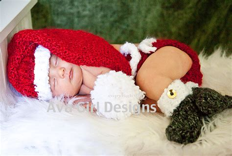 christmas pattern diapers baby santa hat diaper cover bootie set christmas baby set