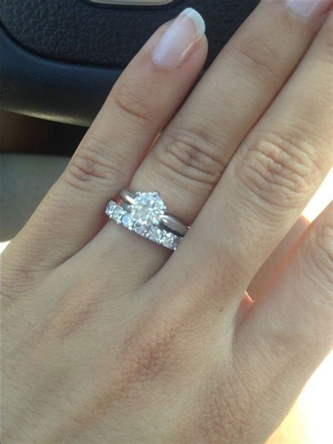 Wedding Ring With Wedding Band by Show Me Your Solitaire Rings With An Eternity