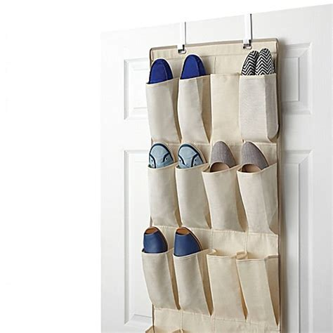 shoe storage door hanger real simple 174 24 pocket the door shoe organizer bed