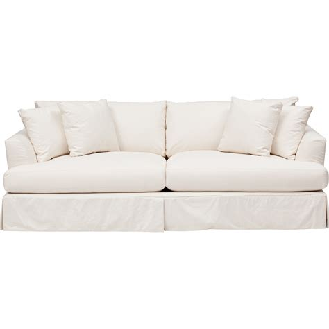 Andre Slipcover Sofa Furniture Sofas Fabric White Sofa
