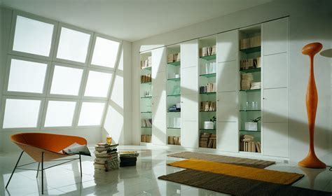 bookshelf as room focus in interior design