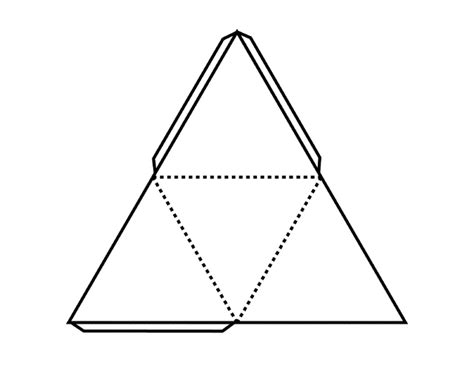 How To Make A Tetrahedron Out Of Paper - pattern for tetrahedron clipart etc
