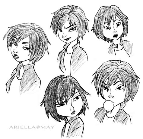 Big 6 Sketches by Gogo Sketches By Ariellamay On Deviantart