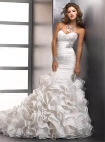 trumpet mermaid sweetheart designer wedding dress with
