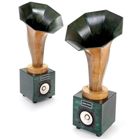 Handmade Speakers - the holographic hornlet speakers this is the pair of