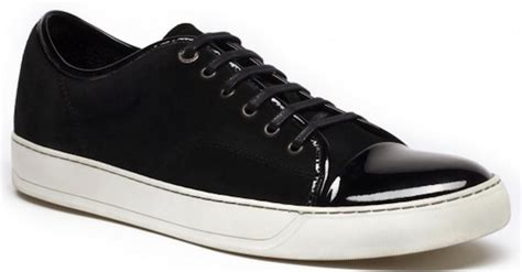 black patent leather tennis shoes