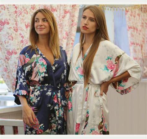 Kebaya Jadi Kimono Satin Silk perempuan rayon pernikahan jubah kimono mandi baju