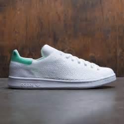 adidas men stan smith primeknit white footwear white green