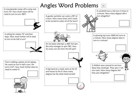 Angles Word Problems Worksheet by Angles Word Problems Year 6 Differentiated By Slayer2k5
