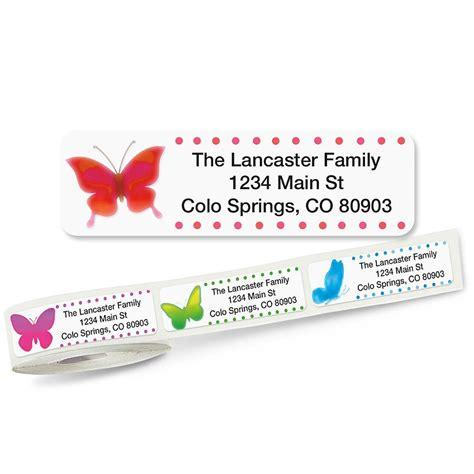 butterflies designer rolled return address labels watercolor butterflies rolled return address labels