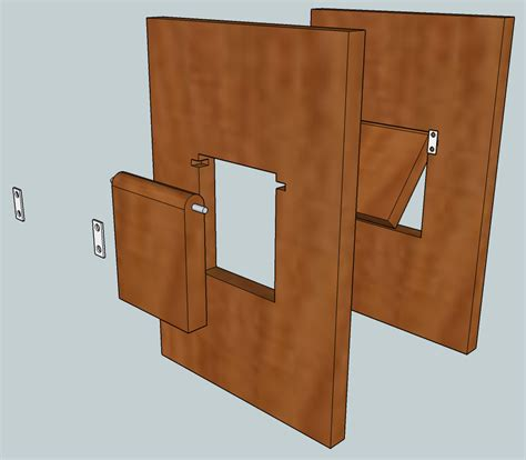Interior Cat Door With Flap I Need To Make A Swinging Cat Door In A Of Furniture But I Can T Figure Out How To Hinge